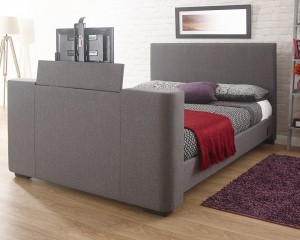 New York Grey TV Bed Frame