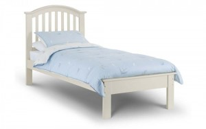 Owen Stone White Bed Frame