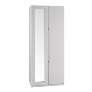 Cashmere Grey High Gloss Extra Tall 2 Door Wardrobe
