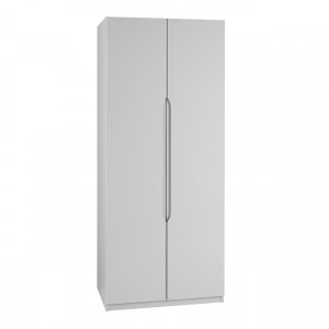 Cashmere Grey High Gloss 2 Door Extra Tall Wardrobe