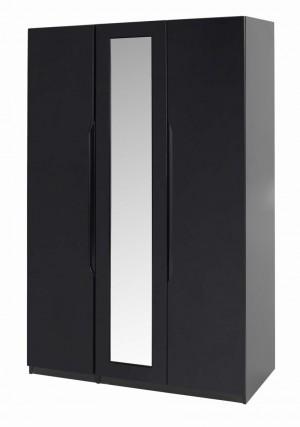 Orient Black Gloss 3 Door Robe With Mirror