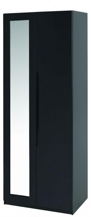 Orient Black Gloss Super Size 2 Door Robe With Mirror