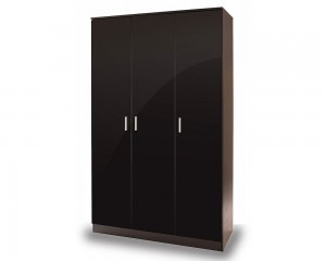 Otto Black High Gloss 3 Door Robe