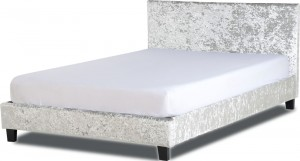 Parade Grey Velvet Bed Frame