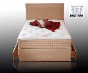 Pasha Pocket 1000 Double 4 Drawer Divan Bed