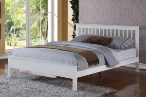 Petra White Three Quarter Bed Frame