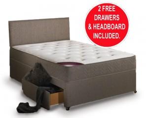Regal Sleep Double 2 Drawer Divan Bed