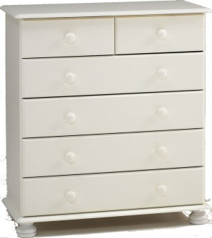 Richmond White 4+2 Drawer Chest