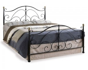 Romano Black Three Quarter Bed Frame