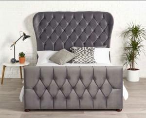 Jaden Steel Grey Bed Frame