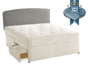 Sealy Essentials Firm Double 2 Drawer Divan Bed