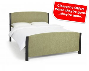 Shell Mint And Black Bed Frame Sale Price