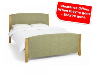 Shell Mint And Oak Kingsize Bed Frame Sale Price