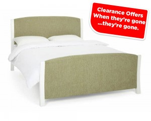 Shell Mint And White Kingsize Bed Frame Sale price