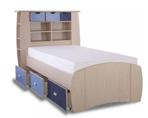 Sid Blue Storage Bed Frame