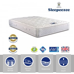 Sleepeezee Memory Comfort 800 Super Kingsize Mattress