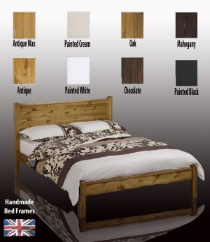 Sutton Handcrafted Three Quarter Bed Frame