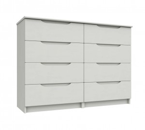 Alpine White Gloss 4 Drawer Double Chest