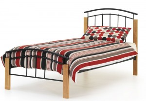 Tetras Black Single Bed Frame