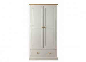 St.Austell Dove Grey 2 Door Wardrobe
