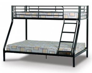 Tobias Black Triple Bunk Bed