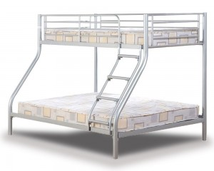 Tobias Silver Triple Bunk Bed