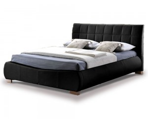 Tornado Black Super Kingsize Bed Frame