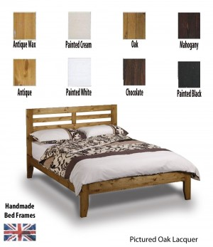 Torrent Handcrafted Three Quarter Bed Frame