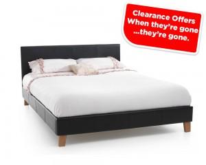 Tyrol Black Kingsize Bed Frame Clearance Sale