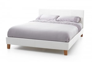 Tyrol White Super Kingsize Bed Frame