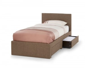 Single Chocolate 2 Drawer Bed Frame