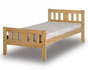 Ria Antique Waxed Pine Bed Frame