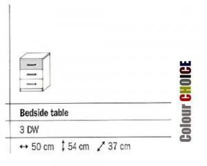 Rauch Celina 3 Drawer Bedside Cabinet