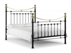 Vicky Black Double Bed Frame