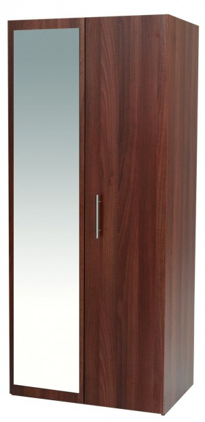 Walnut Mode 2 Door Robe With Mirror