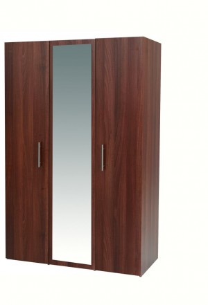 Walnut Mode 3 Door Robe