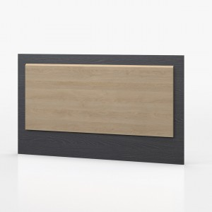 Waterfall Graphite And Oak Headboard