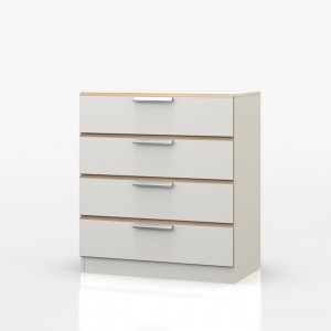 Waterfall Oak And White 4 Drawer Chest
