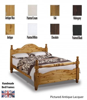 Yorkshire Rail End Handcrafted Super Kingsize Bed Frame
