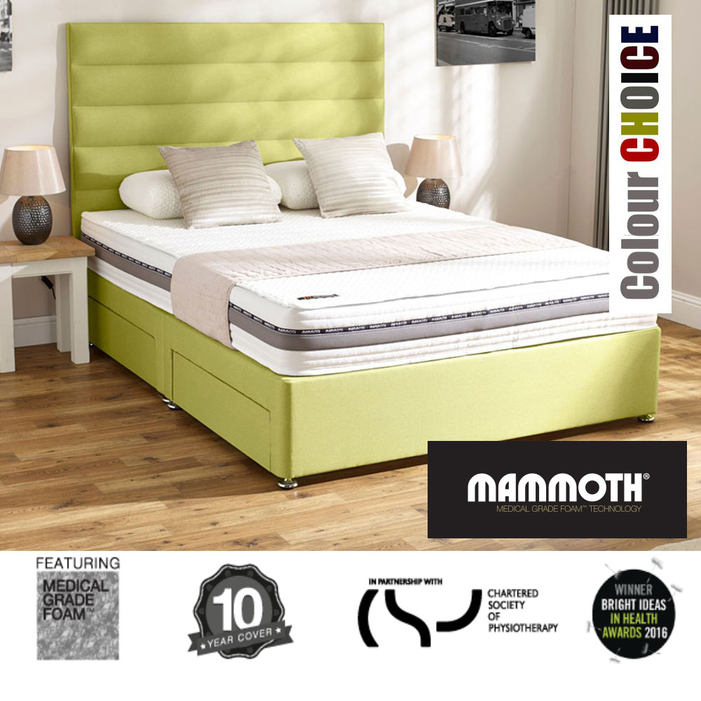 Mammoth performance pocket 1600 super kingsize divan bed Three quarter divan bed