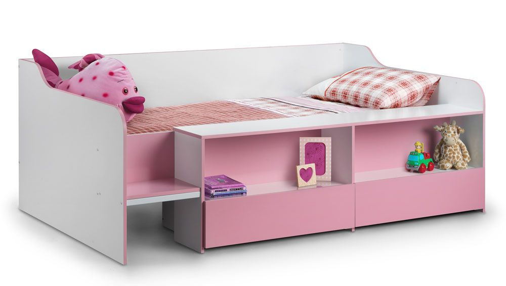 Starburst pink cabin bed low sleeper for Cabin beds for small rooms