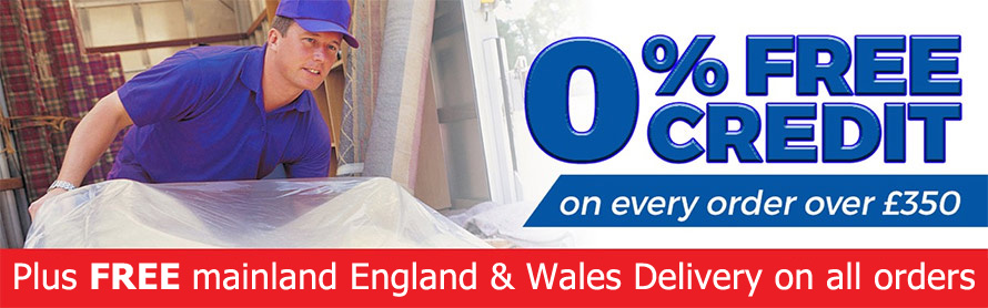 0% free credit on every order over £350