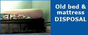 Old bed disposal available at The Bed Warehouse Direct